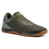 Reebok CrossFit Nano Shoes Mens Hunter Green/Coal/Khaki/Bright Lava CN1038