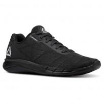 Reebok Faster Flexweave Running Shoes Mens Black/Stark Grey CN5624
