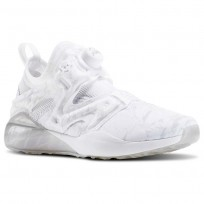 Reebok The Pump Izarre Studio Shoes Womens White/Steel/Tin Grey/Ash Grey AR3122