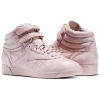Reebok Freestyle HI Shoes Womens Polish Pink BS6279