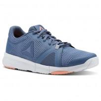 Reebok Flexile Training Shoes Womens Blue Slate/Cloud Grey/Digital Pink/Wht CN5365