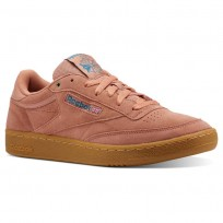 Reebok Club C 85 Shoes Mens Mc-Dirty Apricot/Teal/Gum CN3865