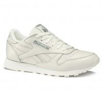 Reebok Classic Leather Shoes Womens Trend X-Chalk/Chalk Green DV4889
