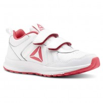 Reebok ALMOTIO 4.0 Running Shoes Girls White/Twisted Pink/Silver Met CN4234