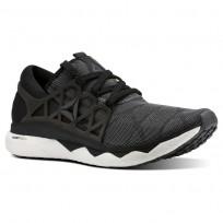 Reebok Floatride Run Running Shoes Mens Black/White/Ash Grey CN5227