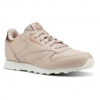 Reebok Classic Leather Shoes Girls Rm-Bare Beige/Chalk CN5560