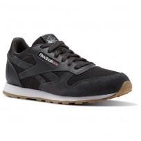 Reebok Classic Leather Shoes Boys Coal/White CN1142