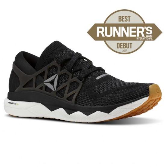 Reebok Floatride Run Running Shoes Mens Black/Gravel/White/Gum CN7262
