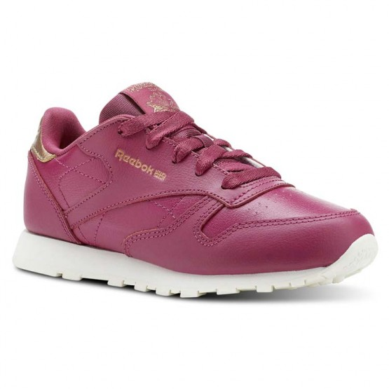 Reebok Classic Leather Shoes Girls Rm-Twisted Berry/Chalk CN5566