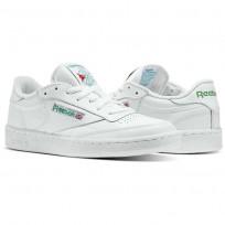 Reebok Club C 85 Shoes Mens Intense White/Green AR0456