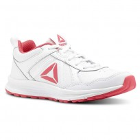 Reebok ALMOTIO 4.0 Running Shoes Girls White/Twisted Pink/Silver Met CN4233