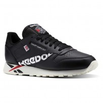 Reebok Classic Leather Shoes Mens Ativ-Black/White/Excellent Red/Chalk DV5016