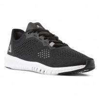 Reebok Flexagon Training Shoes Womens Black/White/Pure Silver CN2407
