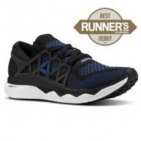 Reebok Floatride Run Running Shoes Mens Black/Bunker Blue/White CN6049