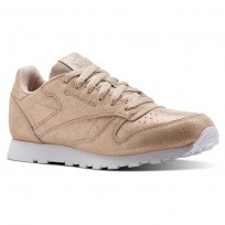 Reebok Classic Leather Shoes Girls Ms-Rose Gold/Bare Beige/White CN5586