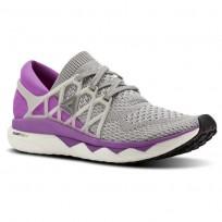Reebok Custom Floatride Run Running Shoes Womens Light Grey Heather/Medium Grey Heather/Vicious Violet BS8185