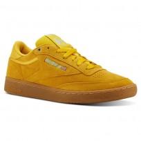 Reebok Club C 85 Shoes Mens Mc-Banana/Blue/Gum CN3867
