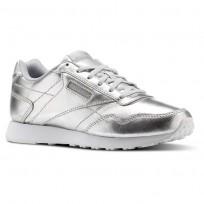 Reebok Royal Shoes Womens Silver Metallic/White CN3118