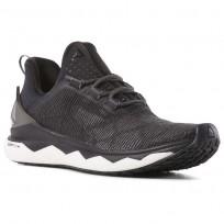 Reebok Floatride Run Smooth Running Shoes Womens Strch-Black/White/Tin Grey CN6310