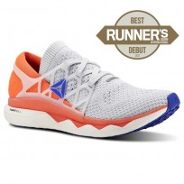 Reebok Floatride Run Running Shoes Mens Spirit White/Cloud Grey/Atomic Red/Blue Move CN4949