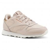 Reebok Classic Leather Shoes Girls Rm-Bare Beige/Chalk CN5562