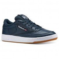 Reebok Club C 85 Shoes Mens Fg-Mineral Blue/White/Gum CN5778
