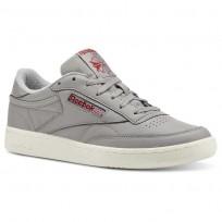 Reebok Club C 85 Shoes Mens Vintage-Mgh Solid Grey/Power Red/Chalk CN5374