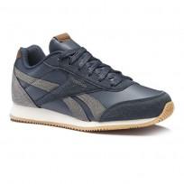 Reebok Royal Classic Jogger Shoes Boys Outdoor/Colleg Navy/Shark/Cream/Wht/Gum CN4813