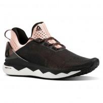 Reebok Floatride Run Smooth Running Shoes Womens Strch-Black/Digital Pink/Wht CN2690