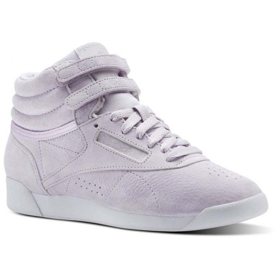 Reebok Freestyle HI Shoes Womens Quartz/White CN0603