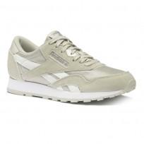 Reebok Classic Nylon Shoes Boys Skull Grey/Wht/Silver CN8527