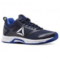 Reebok Ahary Runner Running Shoes Mens White/Vital Blue/Collegiate Navy CN5341