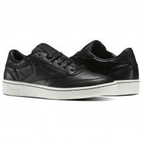 Reebok Club C 85 Shoes Mens Black/Chalk BS6208