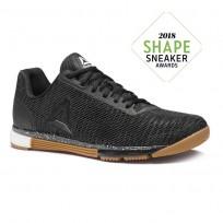 Reebok Speed Training Shoes Mens Black/Reebok Rubber Gum/White CN8208