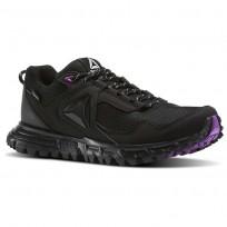 Reebok Sawcut Walking Shoes Womens Black/Vicious Violet/Cloud Grey BD6012
