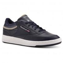 Reebok Club C 85 Shoes Mens Sptlt-Collegiate Navy/Cool Shadow CN3762
