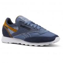 Reebok Classic 83 Shoes Mens Blue Slate/Smoky Indigo/White/Soft Camel CN4508