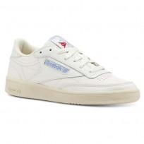 Reebok Club C 85 Shoes Womens Vintage-Chalk/Paper Wht/Athletic Blue/Exc Red CN5464